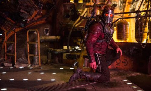 Chris Pratt suited up as Star Lord
