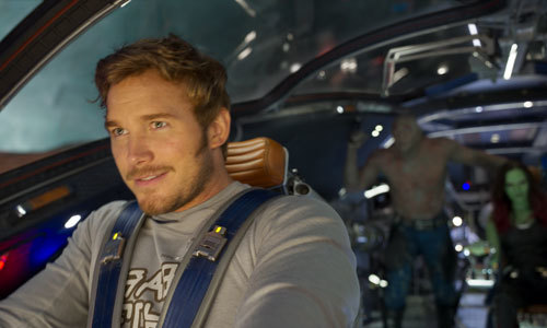 Star Lord captains his ship