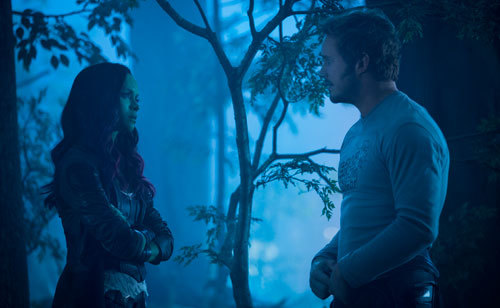Gamora and Star Lord have a heart to heart