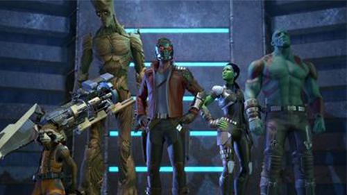 Telltale's Guardians mirror both the film and the comic characters.