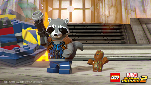 Rocket Raccoon and Groot making their LEGO game debut.