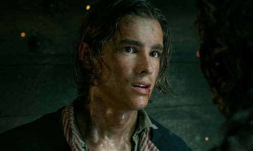 Henry (Brenton) is questioned by Captain Salazar