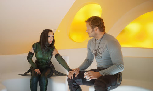Empath Mantis knows that Quill has the hots for Gamora