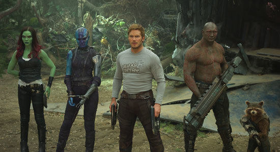 Guardians plus Nebula arrive on a new planet