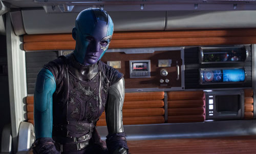 The captured and determined Nebula (Karen Gillan)