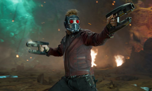 Star Lord in full battle mode
