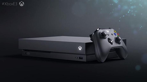 The new Xbox One X.