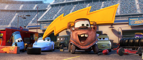 Tow Mater is Lightning's biggest fan