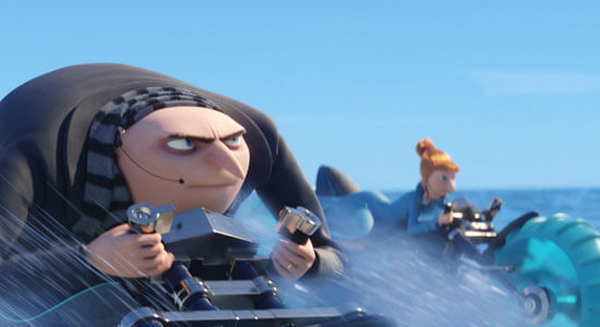 Gru and Lucy race to rescue their girls