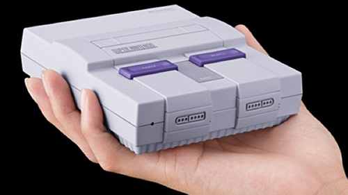 The tiny Super NES Classic.