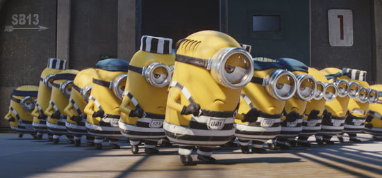 The Minions entertain in jail