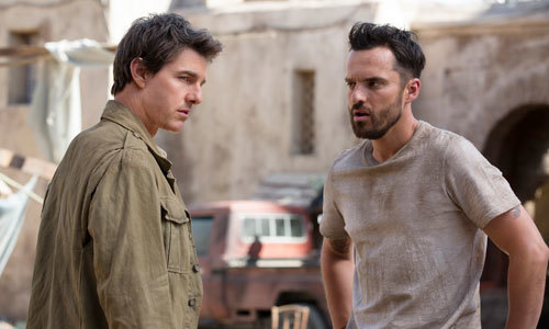 Nick Morton (Tom Cruise) and Chris Vail (Jake Johnson)