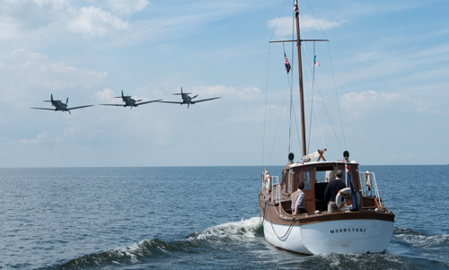 The crew of the yacht Moonstone see Brit fighter planes