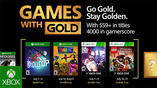 Games with Gold for July 2017.