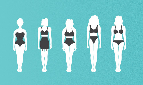 Bodies come in different shapes and sizes but they are all beautiful.
