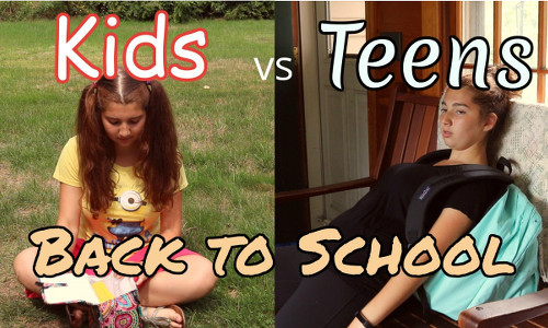 Going back to school is different for kids and teens.