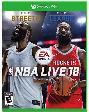 NBA Live 18's Box Art