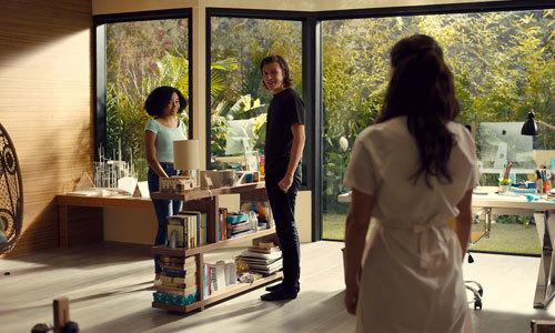 Carla lets Olly inside the house