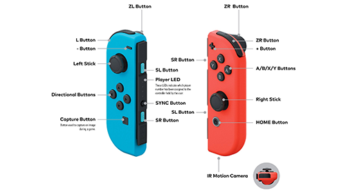 Those beautiful Blue and Red Joy-Cons.