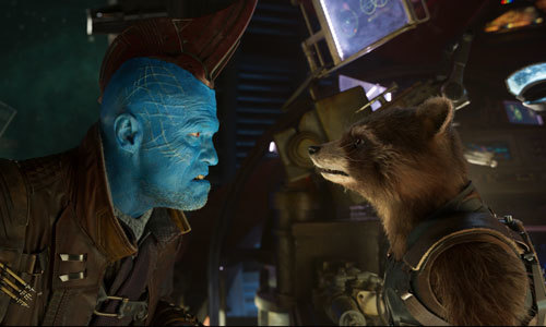 Yondu argues with Rocket
