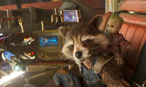 Rocket protects Baby Groot