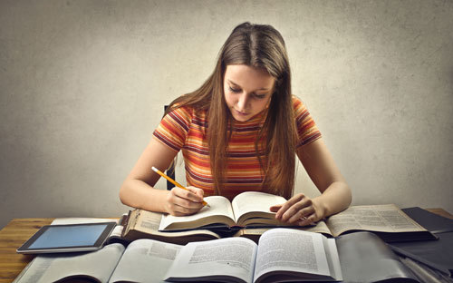 Studying is essential to getting good grades.