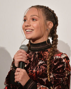Maddie Ziegler at the Leap! premiere