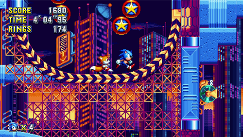 Sonic and Tails mimic their designs from Sonic 2.