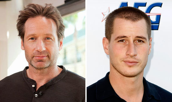 Separated at Birth - David Duchovny (left) and Brendan Fehr (right)