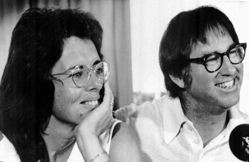 The real Billie Jean with Bobby Riggs