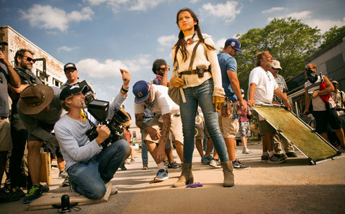 Michael Bay directs Isabela Moner as Izabella