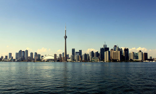 View of Toronto and Lake Ontario
