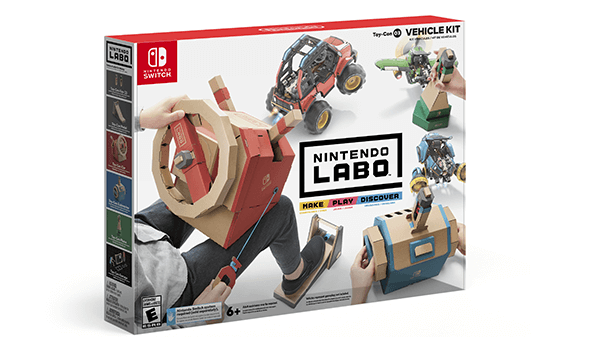 Nintendo Labo Vehicle Kit Box Art