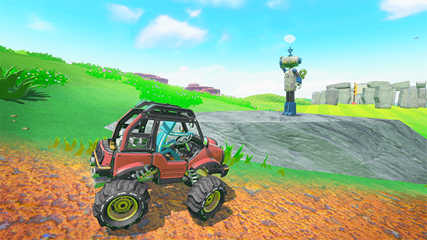 The in-game car will have you filling up with gas to explore the world.