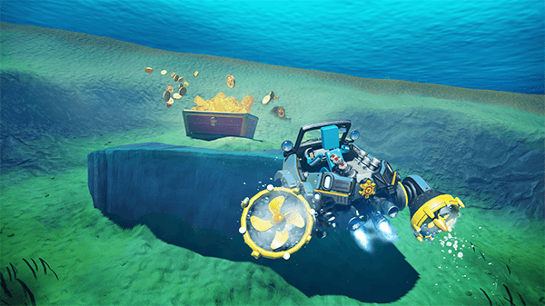 Swapping out the Toy-Con key into the submarine lets you explore under the water.