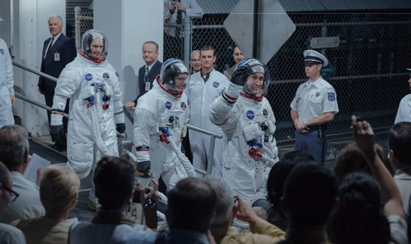 The moonlanding crew of Apollo 11