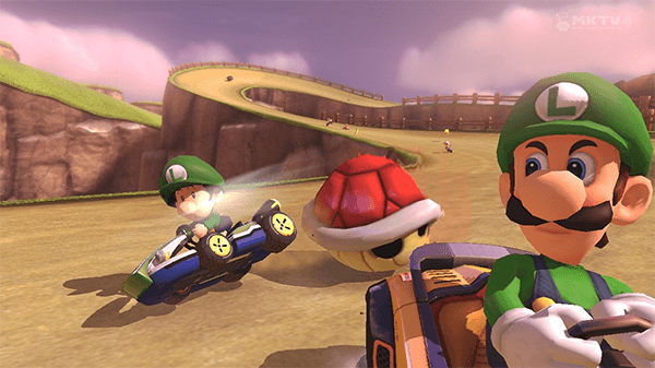 "Mario Kart 8 spawned the much-shared ""Luigi Death Stare"" meme."