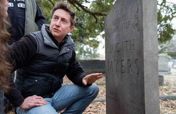 Journalist Aaron sees Judith Myers' grave
