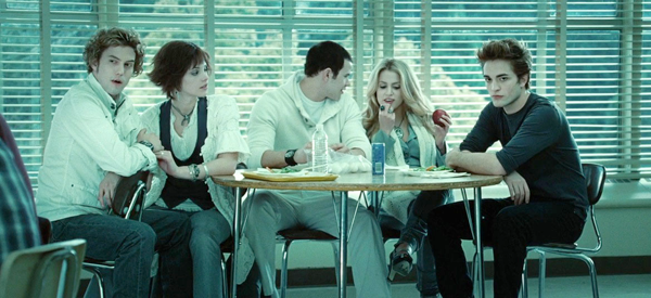 The Cullens at school