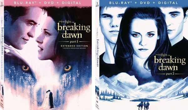 New Breaking Dawn Part 1 and 2 Box Art