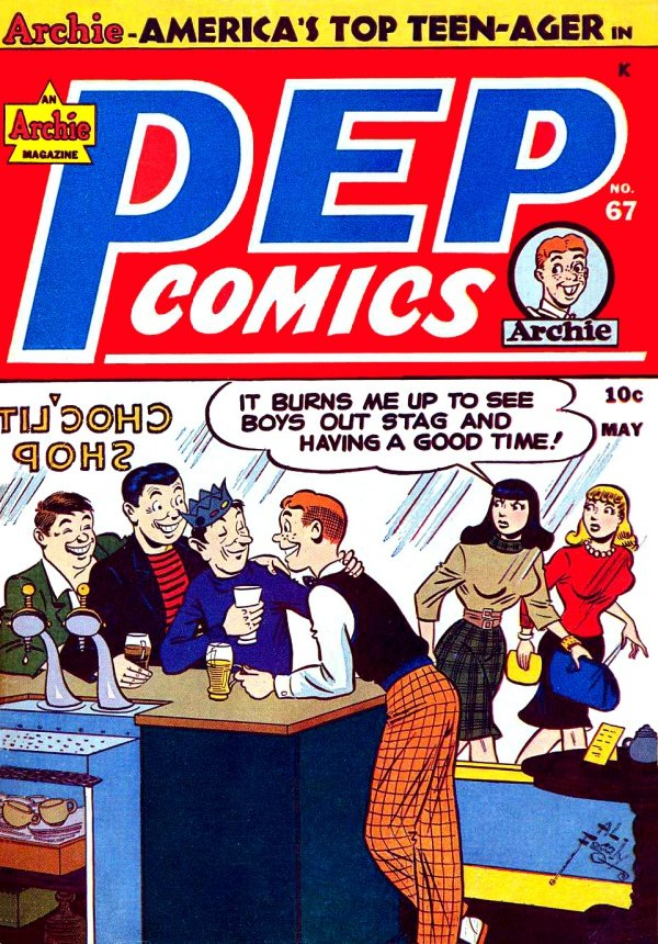 An original cover of an Archie comic from 1942