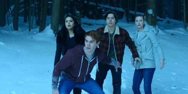 Feature season 1 episode 13 the sweet hereafter archie, jughead, betty, and veronica at river