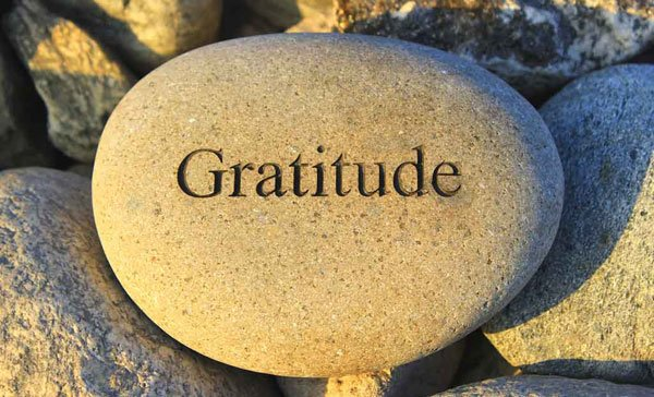 Try to find at least one thing to be grateful for each day.