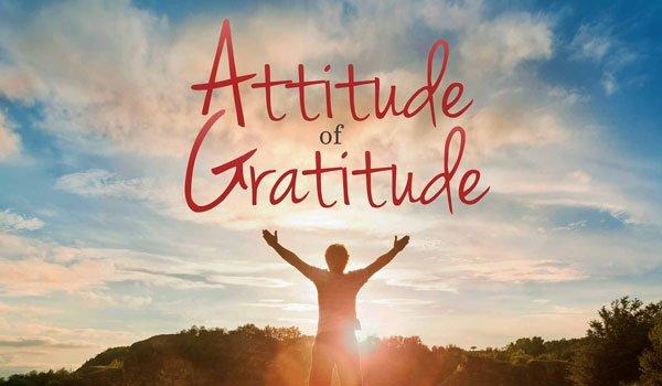 Show the attitude of gratitude.