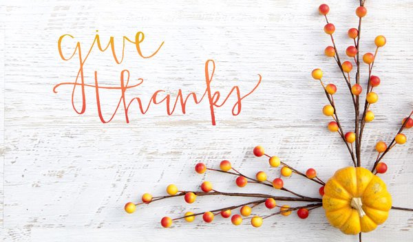 On Thanksgiving, we give thanks!