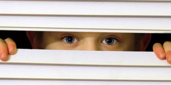 Feature boy peeking out