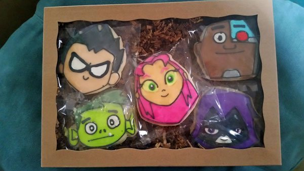 We got Teen Titans cookies!