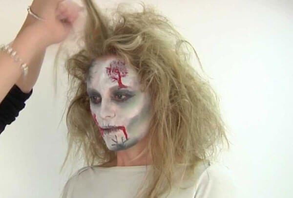 Crazy zombie hair!