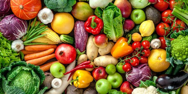 Eat the rainbow of fruits and veggies