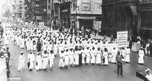 10,000 African Americans marched down Fifth Avenue in New York City